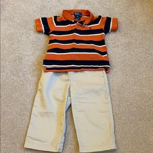 Polo Ralph Lauren Polo Shirt and Khaki Pants